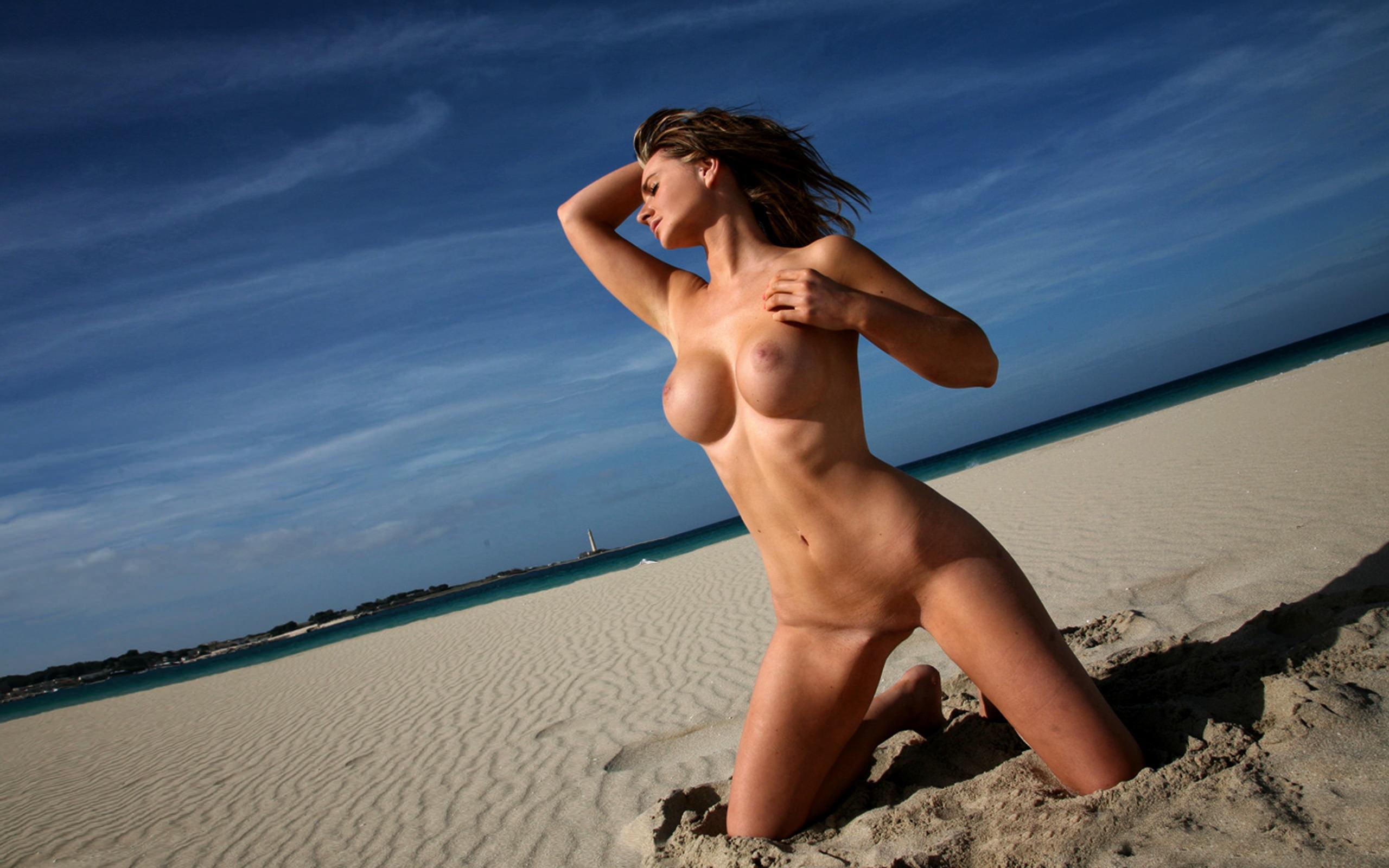 Jenna Chapple See Through Bikini Hotness Beach Photoshoot