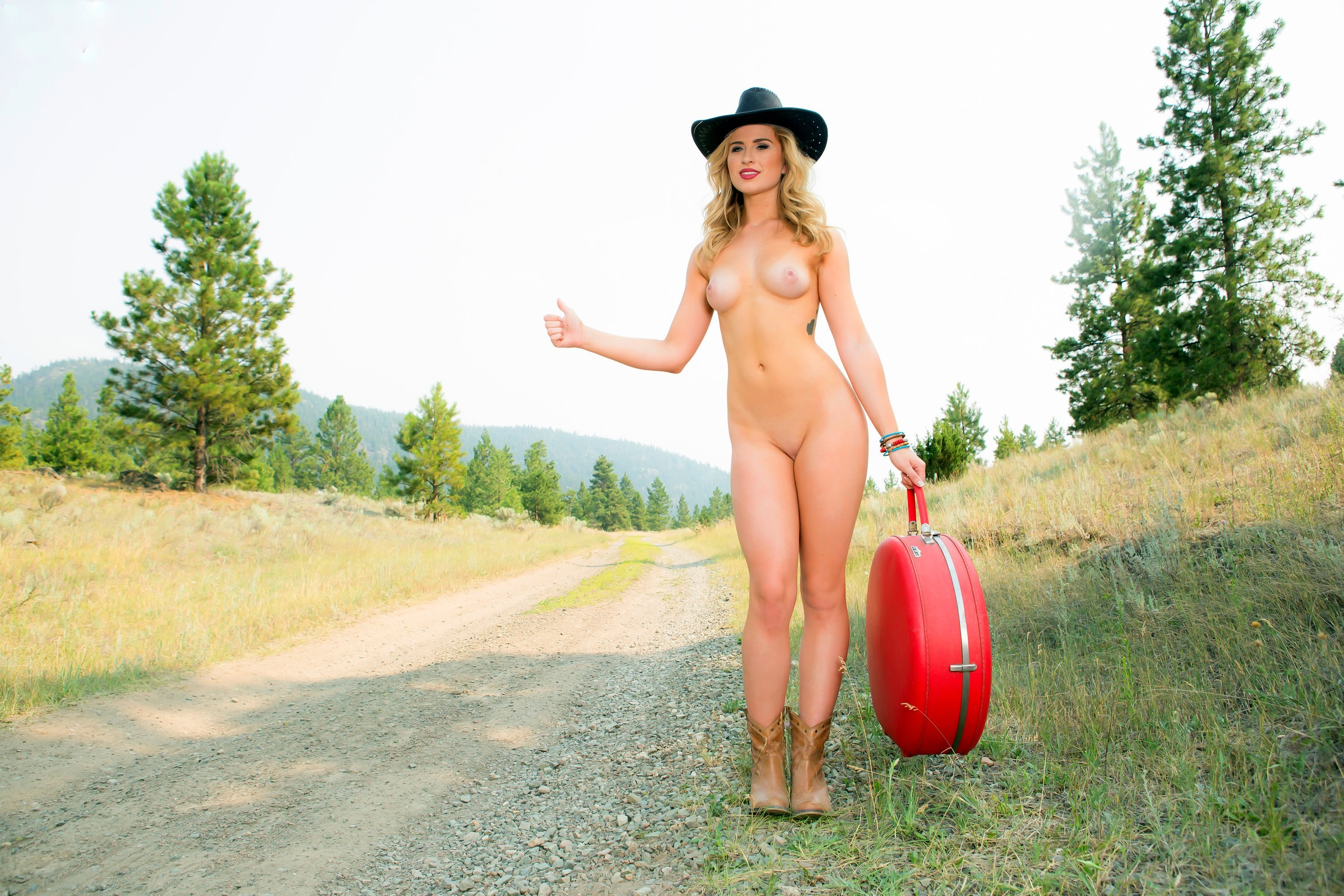 Naked Girls On The Side Of The Road
