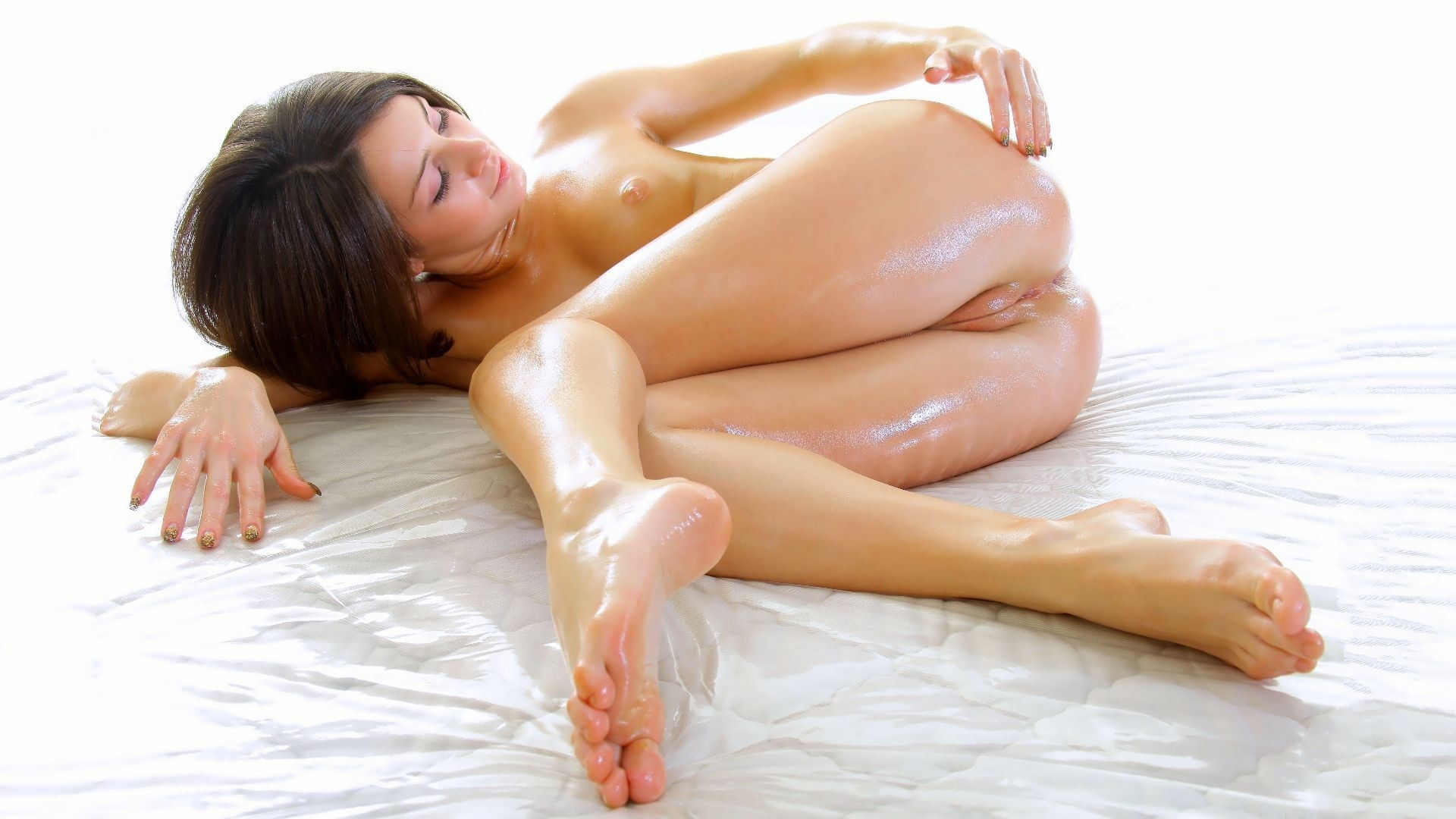Beautiful girl has a nude massage and passionate sex