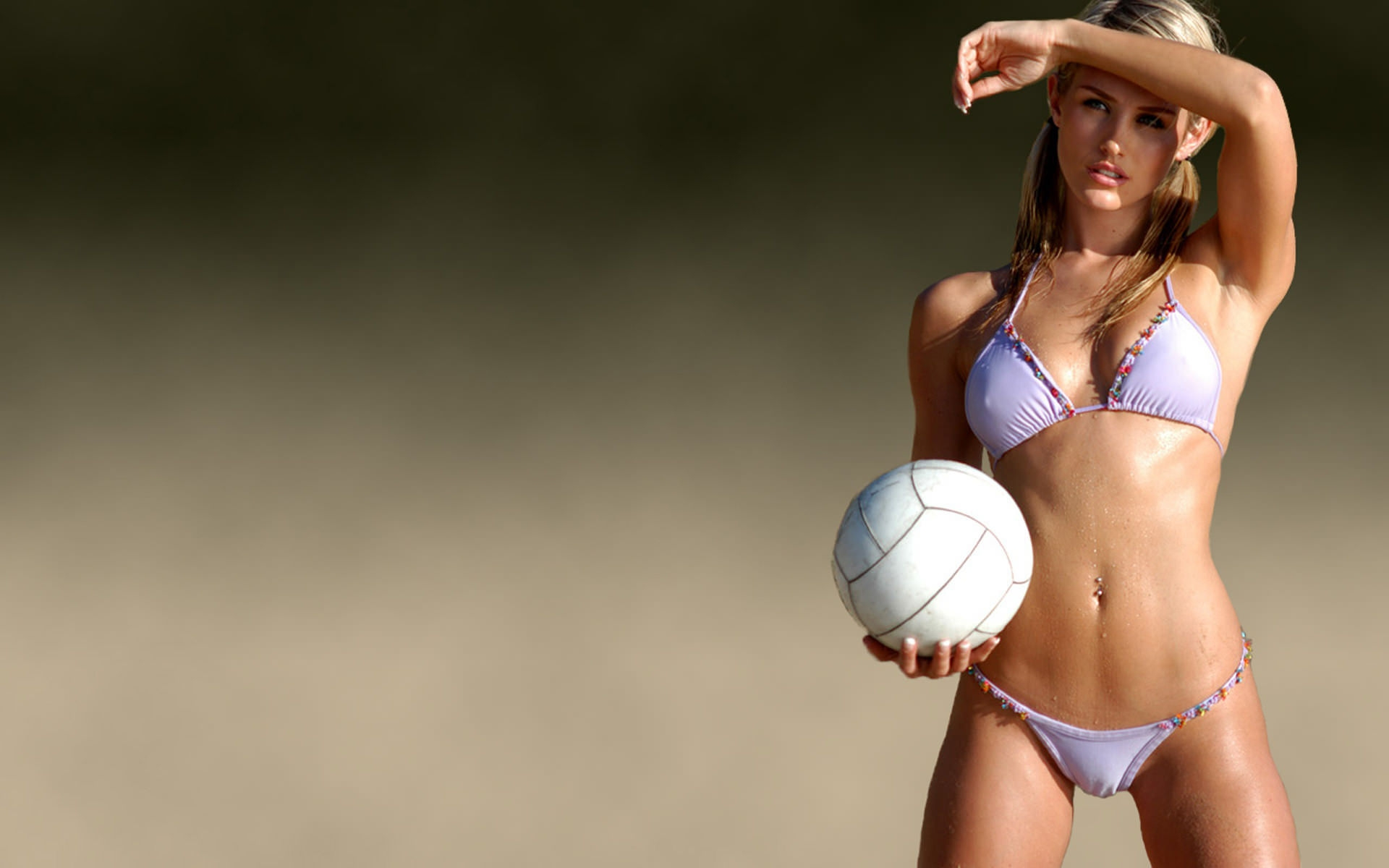 Sexy Sport Brunette Woman For Android