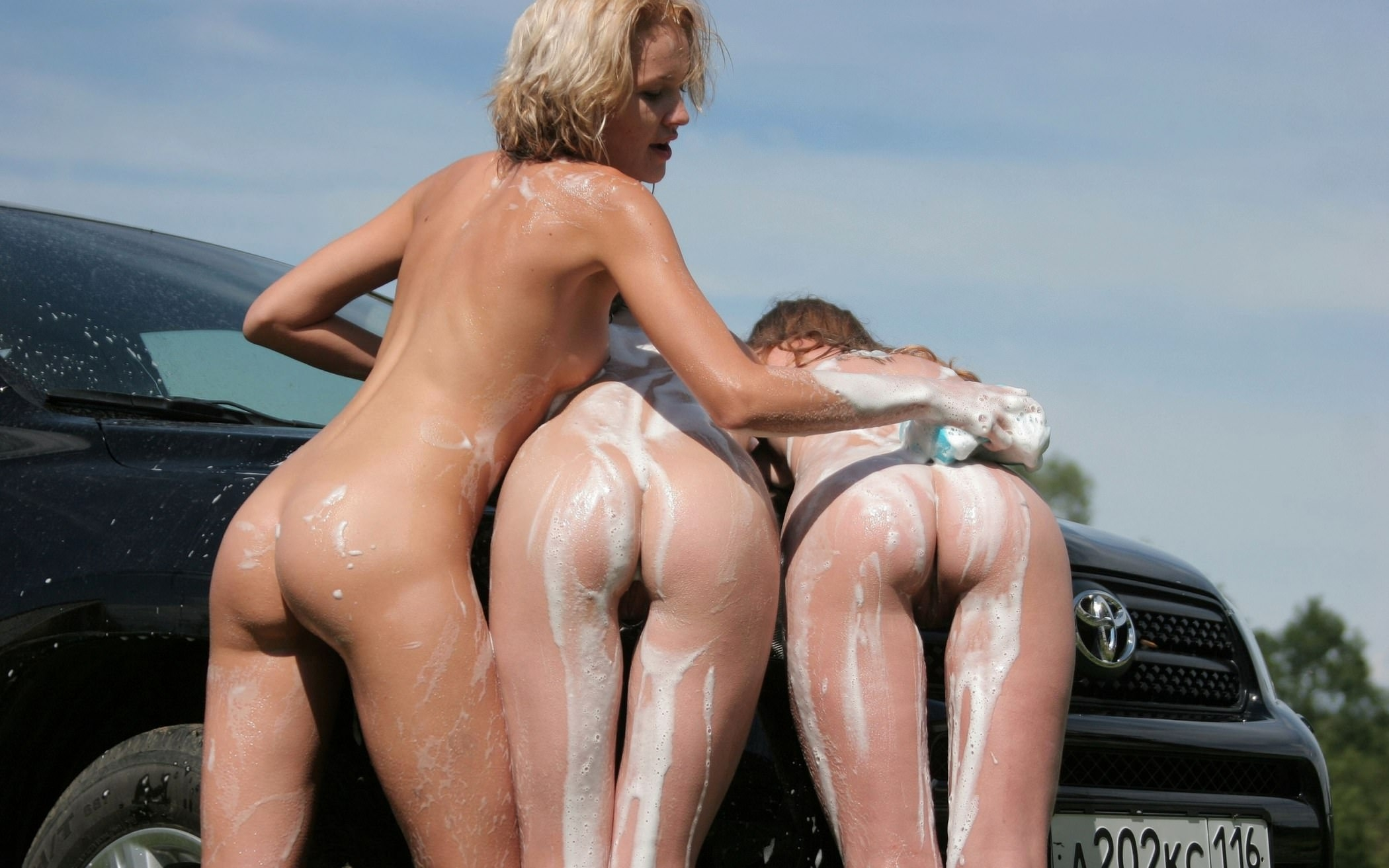 See and save as naked girl groups car wash porn pict