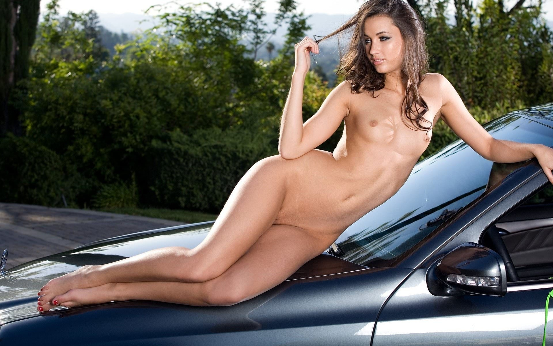 Aspen rae sexy girl hot pussy and ferrari car wallpapers