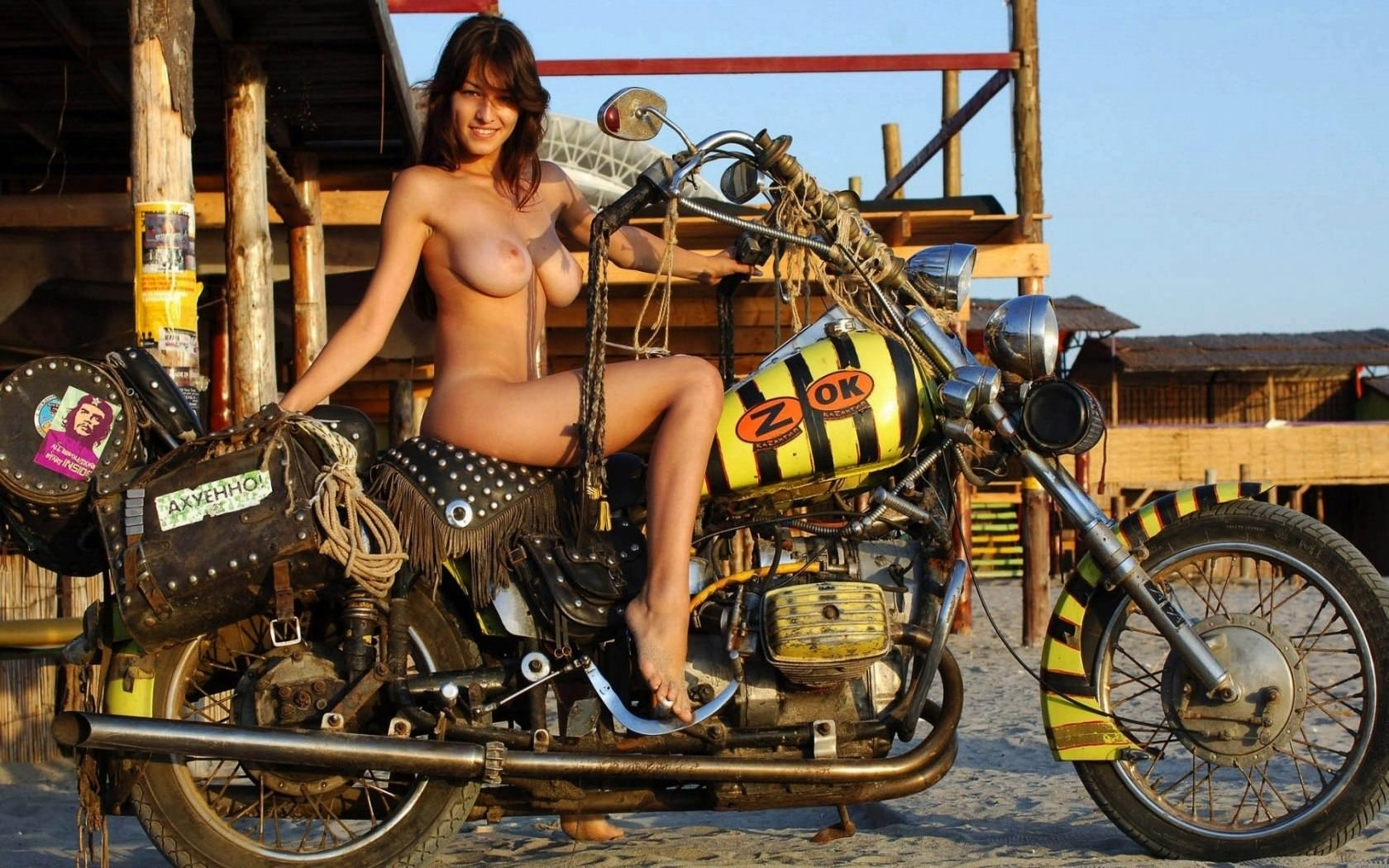 Girls riding motorcycles naked