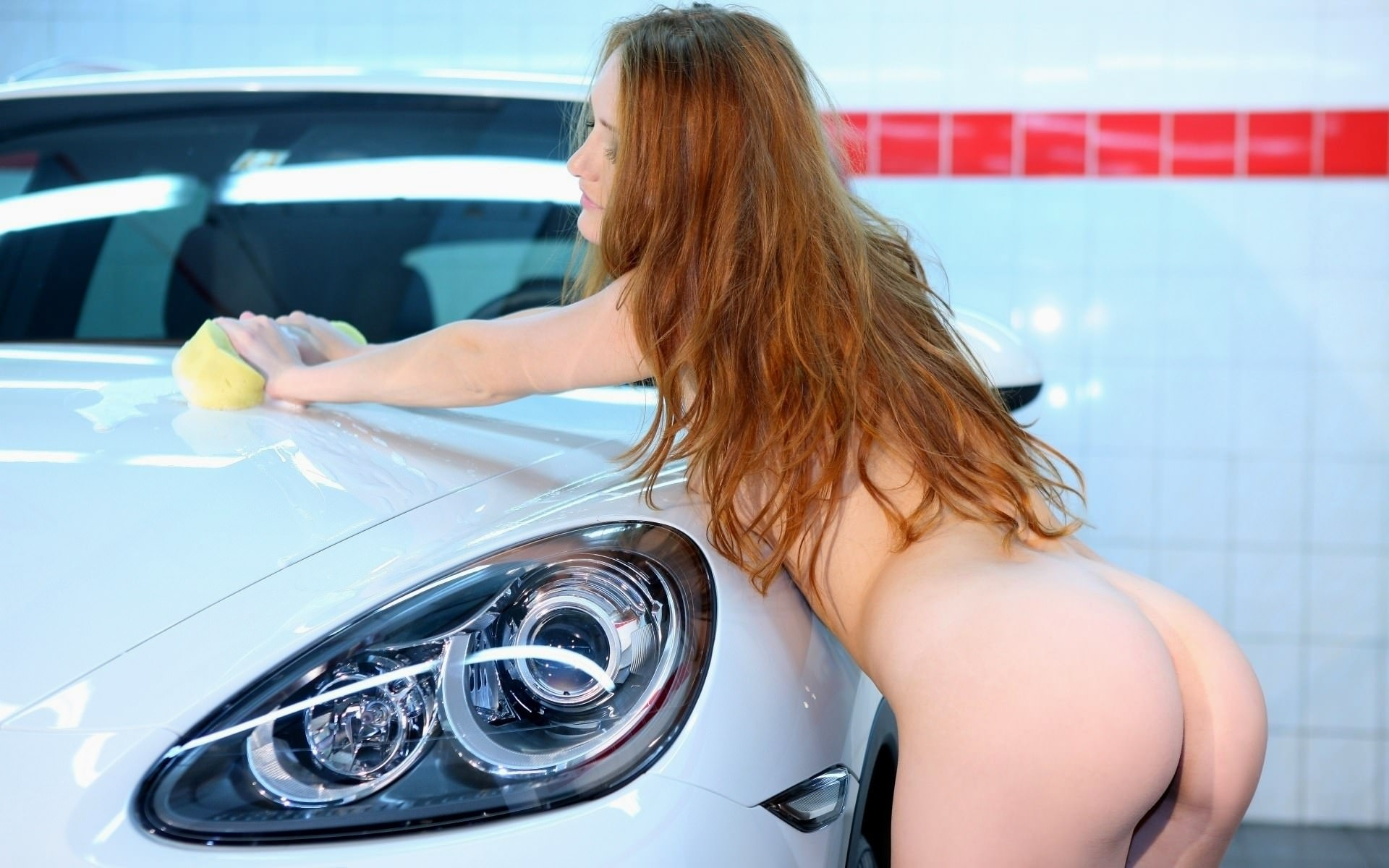 Naked Girls Washing Car Nude