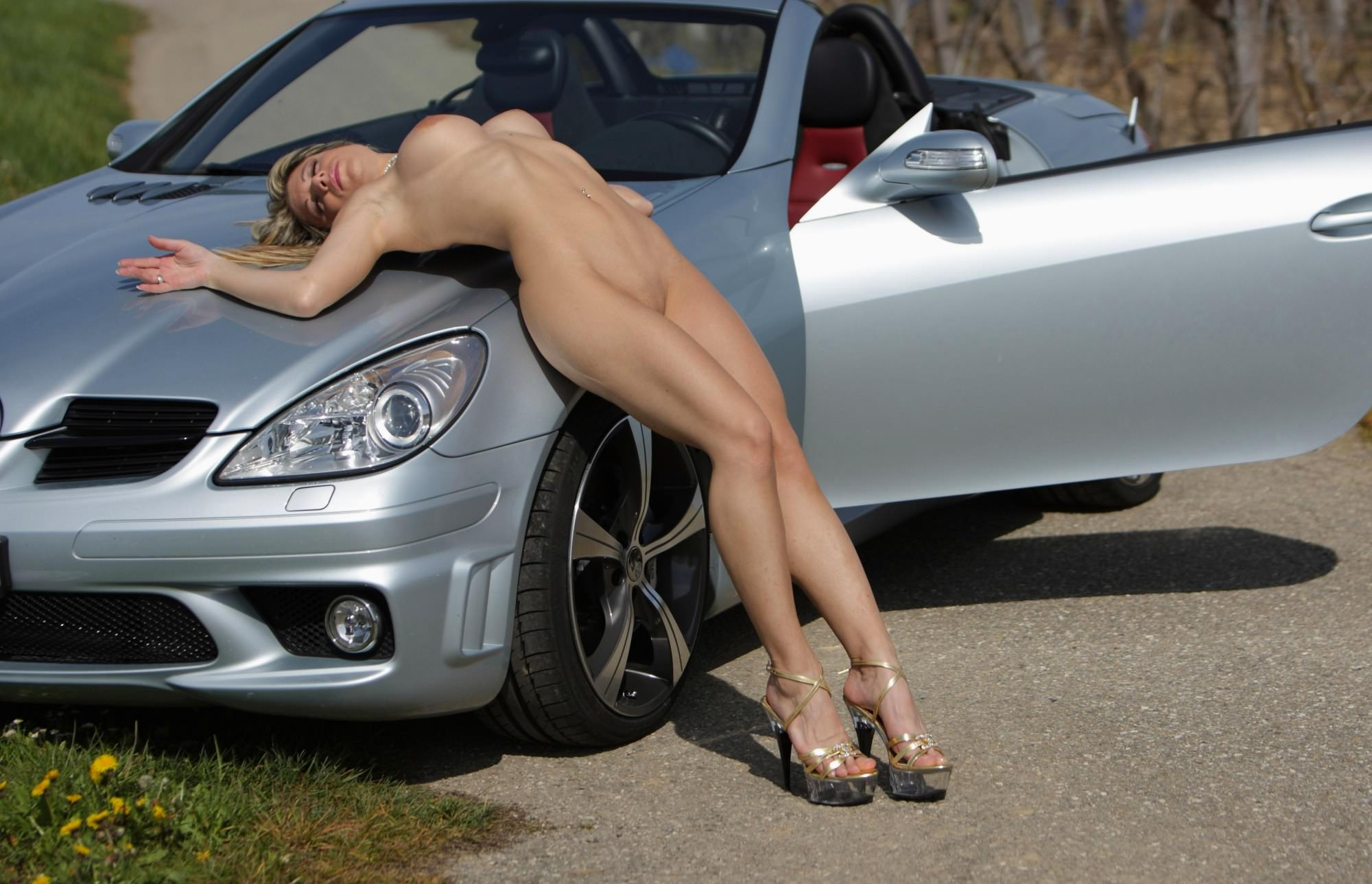Naked Girls Bending Over Cars