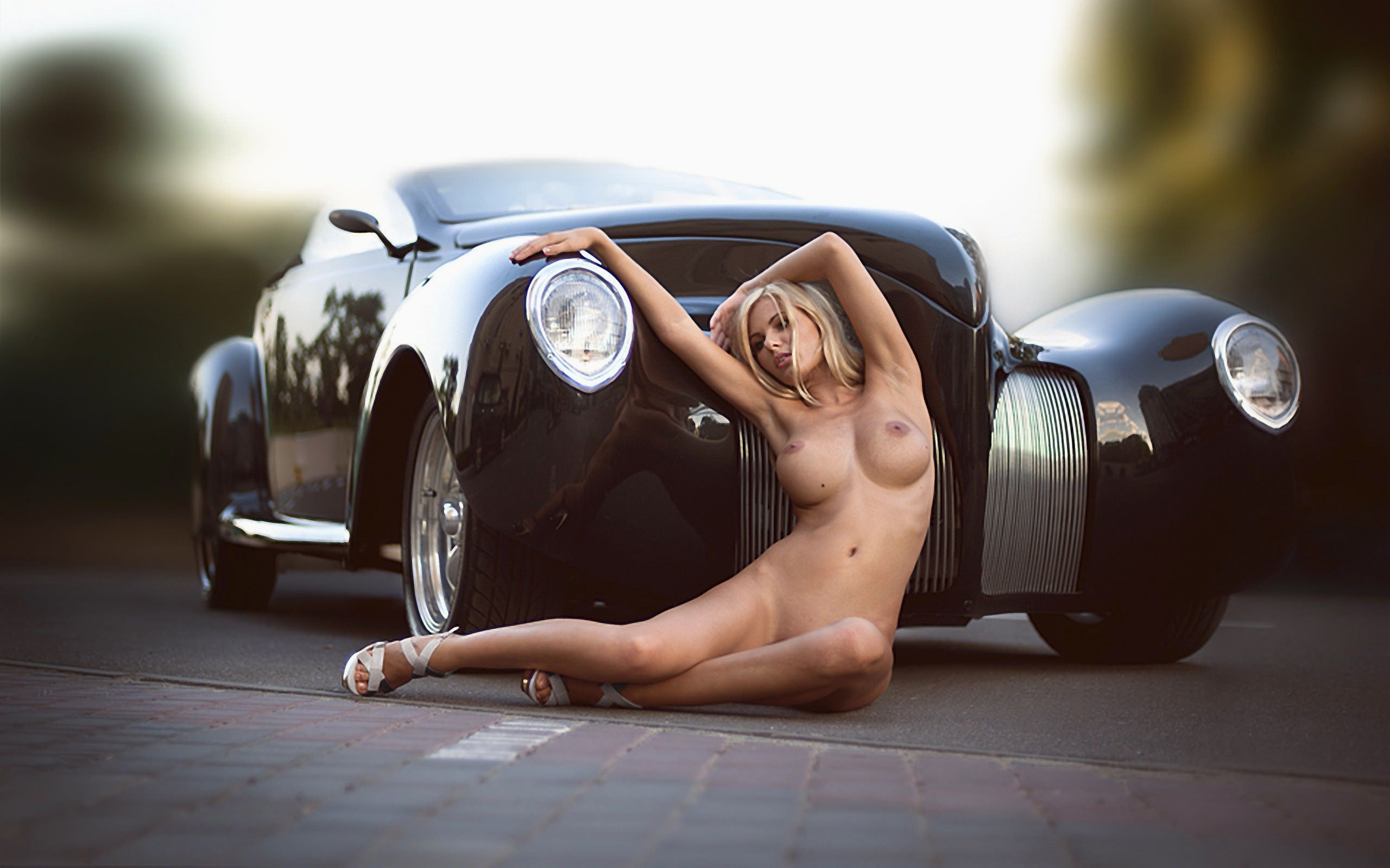 Haulin ass girls in pickup truck bed sexy photo poster print posters