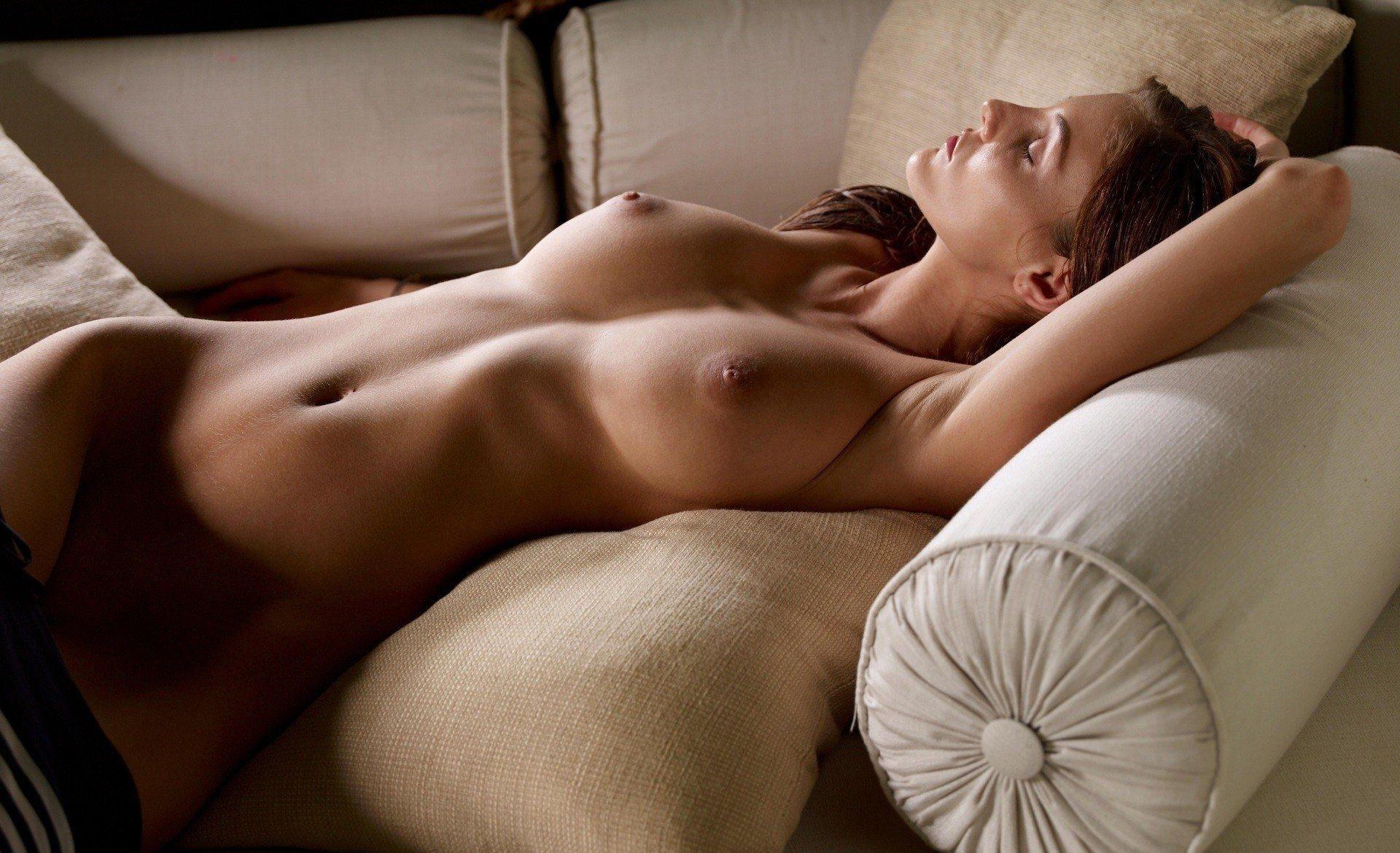 Woman nude sleep sexy butt black stock photo