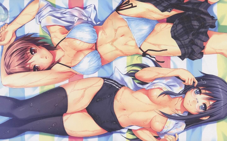Фото Сексуальные девушки в нижнем белье, девки в масле, соблазн, скачать картинку бесплатно