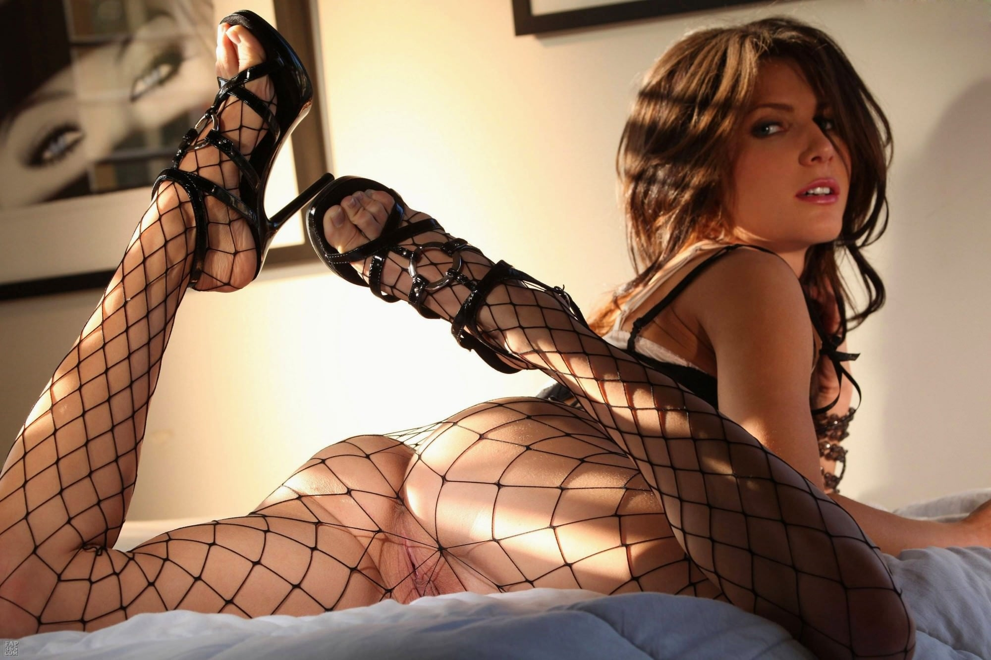 Bryci Naked In Fishnet Stockings