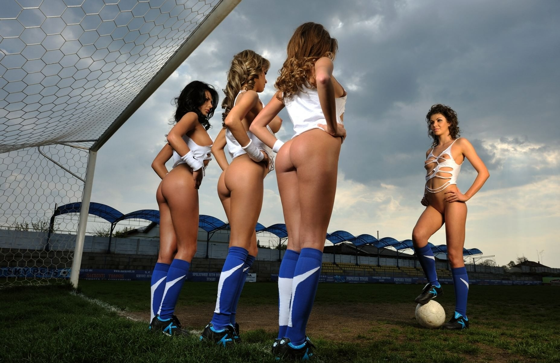 Footballers play match fully naked in protest