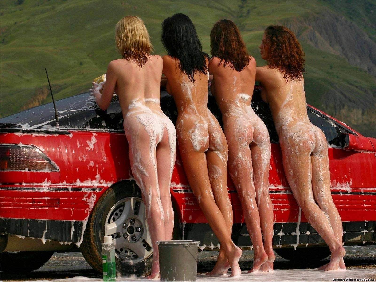 Мойщицы машин порно